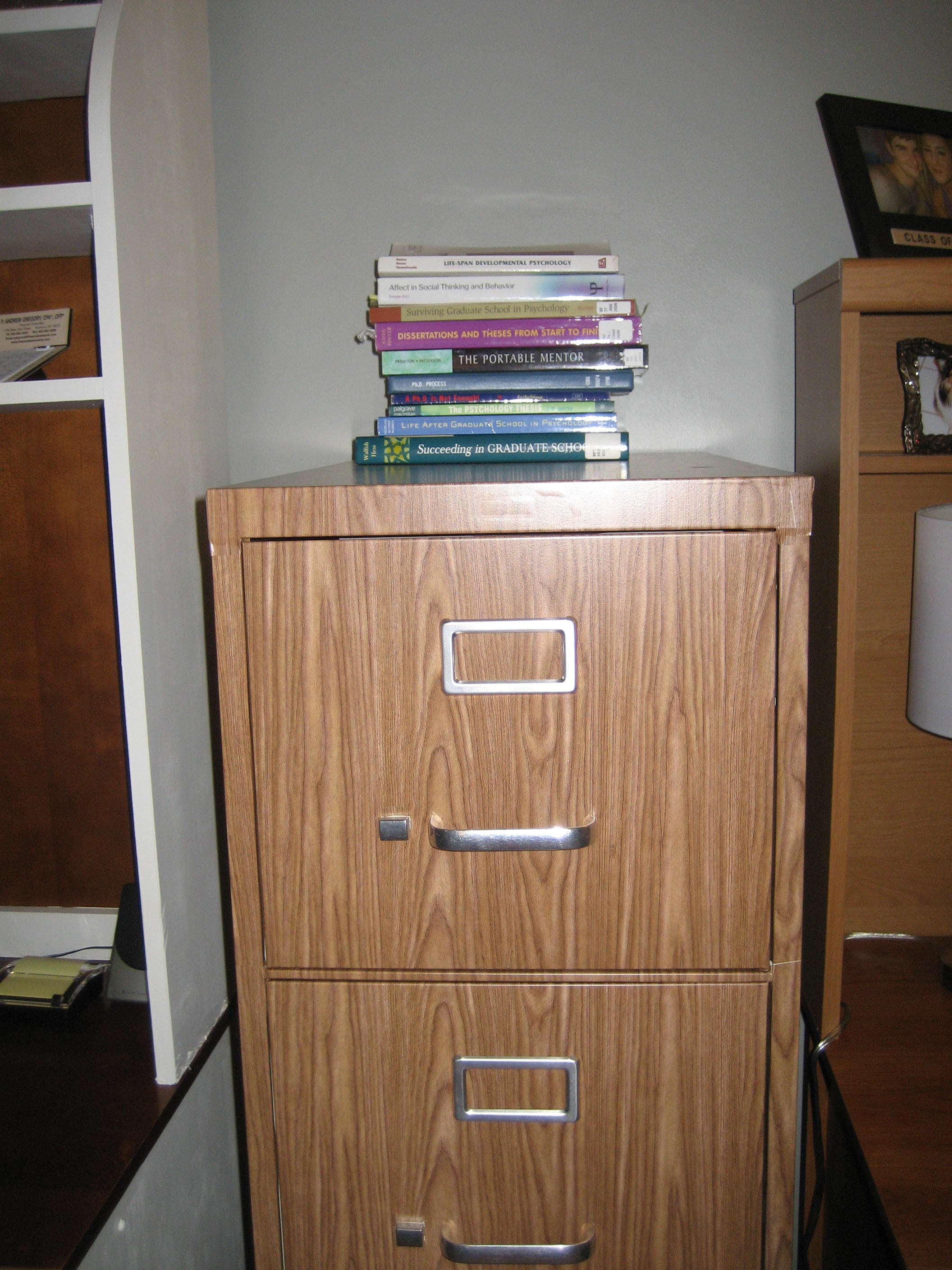 Picture of File Cabinet Makeover: How to Cover a File Cabinet With Contact Paper