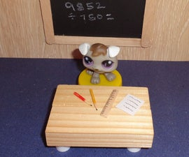 how to make a doll school desk and chair