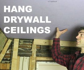 How to Hang Drywall Ceilings by Yourself