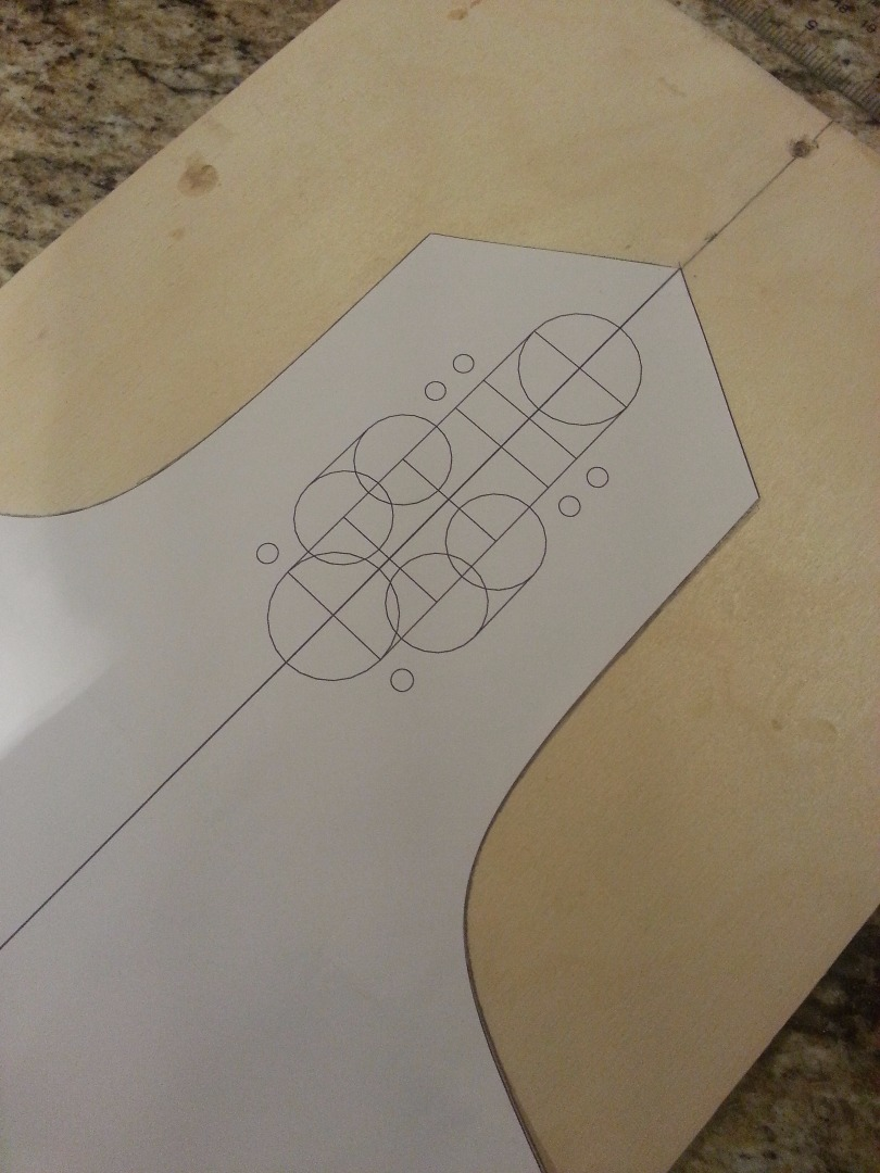 Picture of Glue the Template on to the Deck Blank