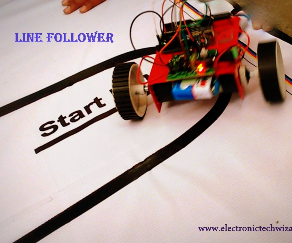 SIMPLE LINE FOLLOWER ROBOT(single Sensor): 7 Steps (with Pictures)