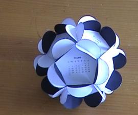 Paper Flower Calender