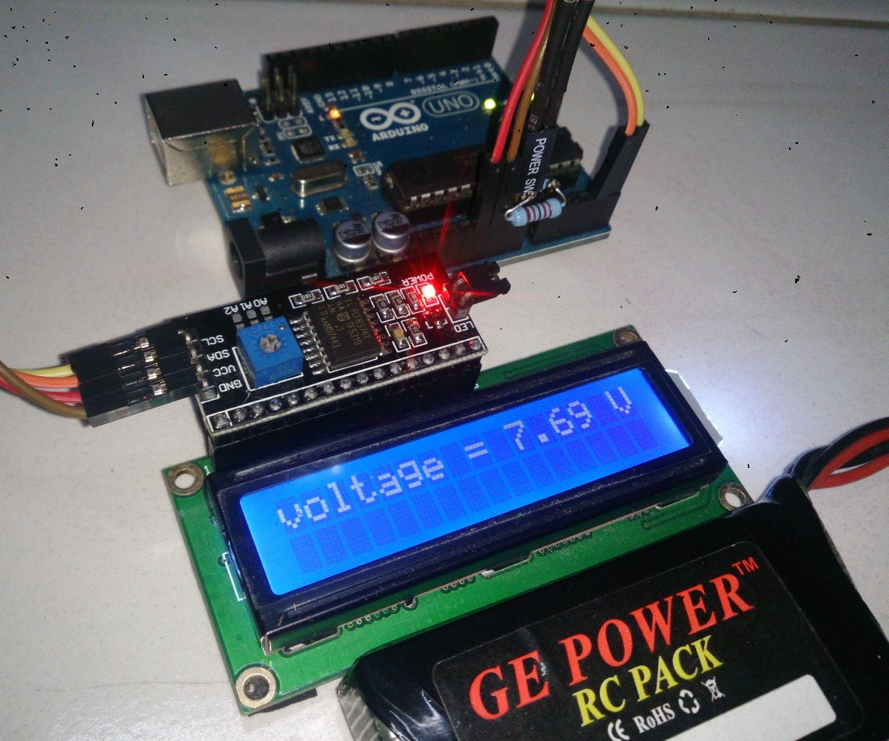 Arduino Battery Voltage Indicator: 5 Steps (with Pictures)