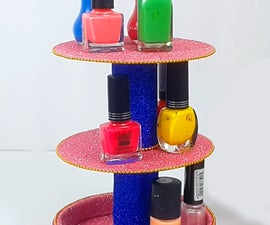 How to Make DIY Nail Paint Stand Using Old CDs?