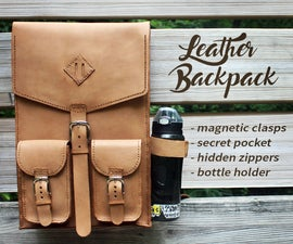 Hand Stitched Leather Backpack