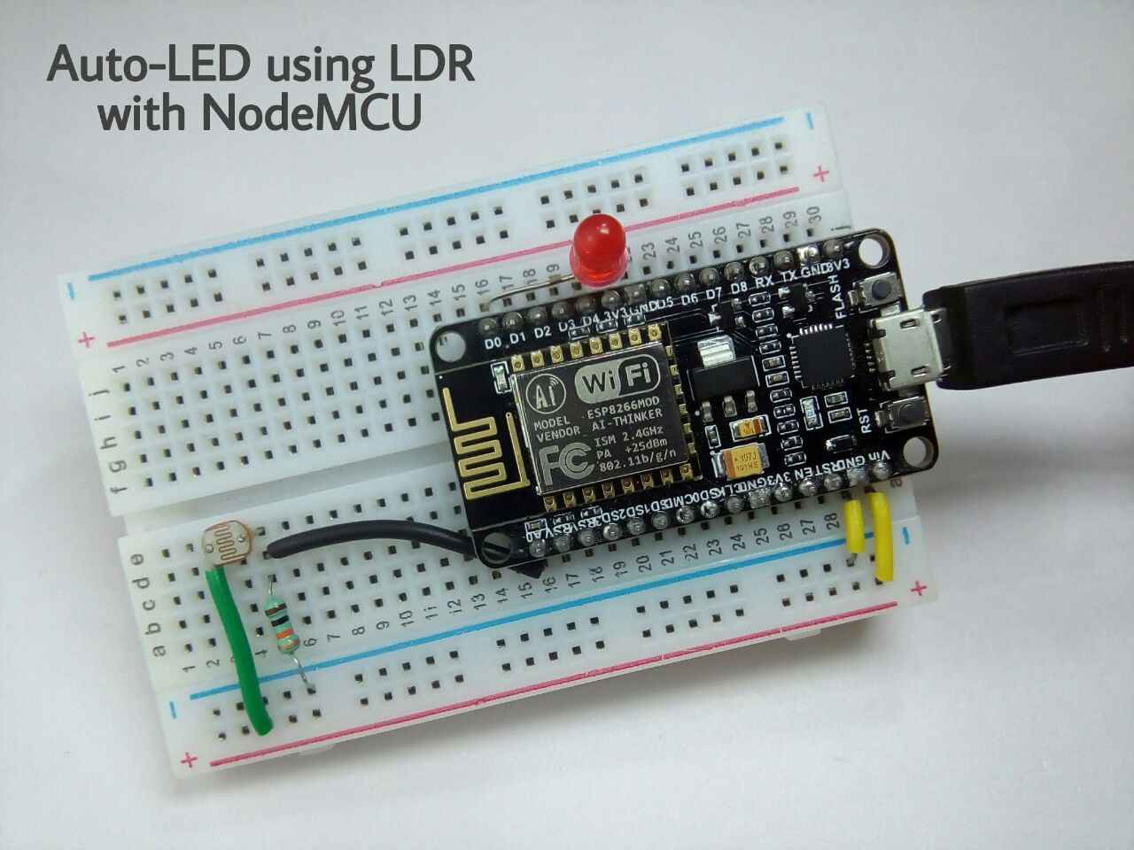 Picture of Auto-LED Using LDR With NodeMCU