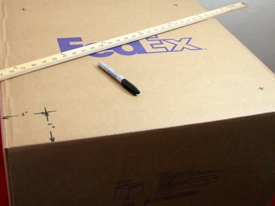 Measure and Mark the Side of the Box