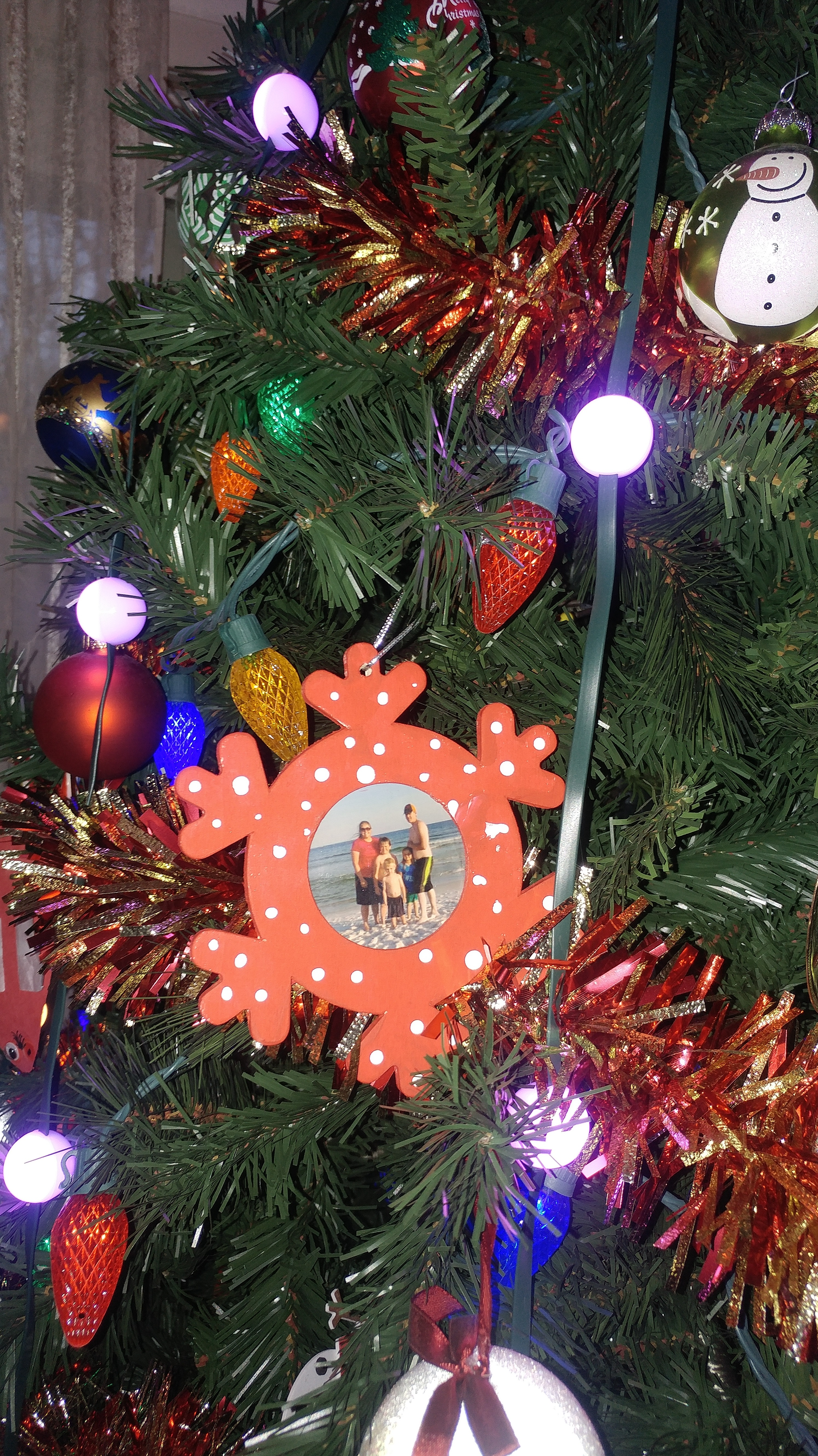 Picture of Snowflake Picture Christmas Tree Ornaments