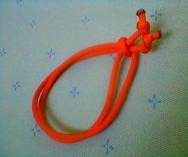 Simple Adjustable Paracord Bracelet