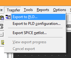 4p1 export to PLD