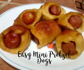 Easy Mini Pretzel Dogs