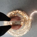 Glowing Crochet Wool Rug