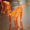 Acrylic Giraffe model.