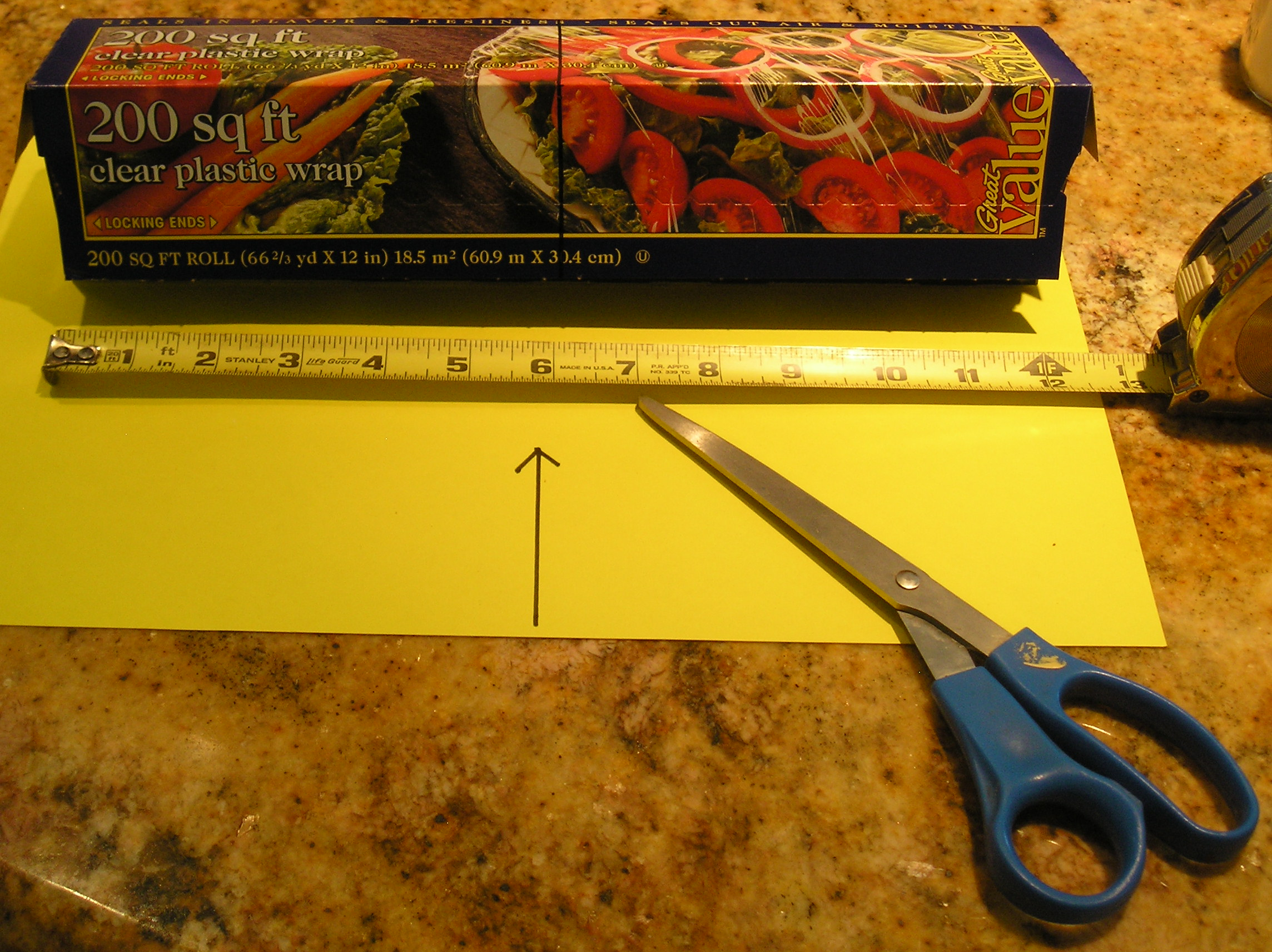 Picture of Mark Box and Roll Where You Want to Cut.