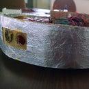 Bump detector for robots with aluminum foil