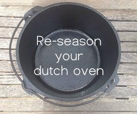 Re-season Dutch Ovens