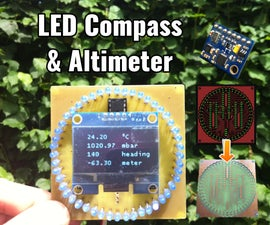 LED Compass and Altimeter