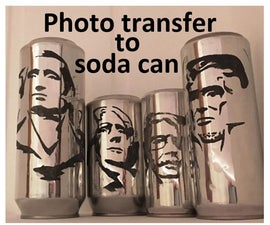 Photo Transfer to Soda Can