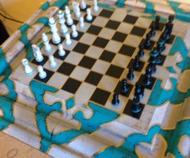 Secret Compartment in Chess Table with 9 move combo key !!!