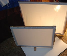 Build a photo studio - Collapsible Light Diffuser Frames