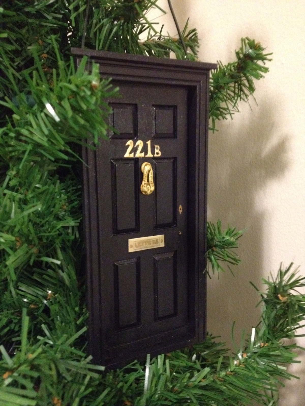 Picture of Make a 221B Baker Street Christmas Ornament (BBC Sherlock)