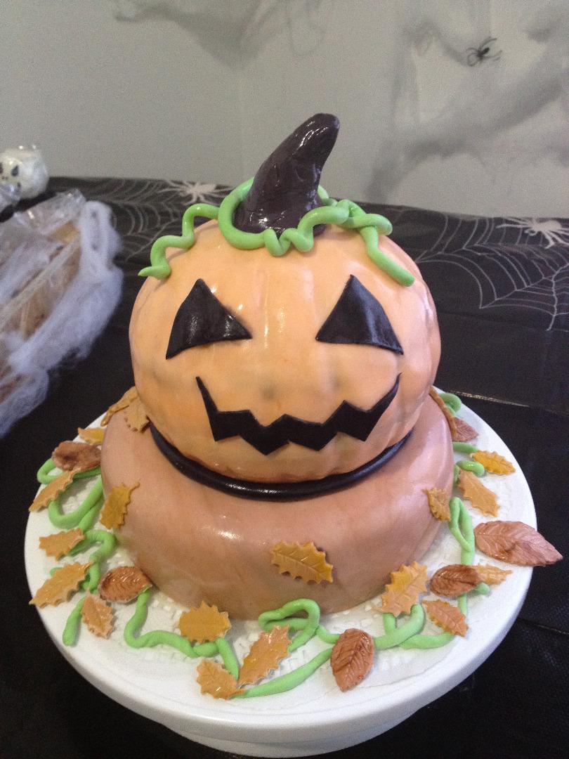 Picture of Rotten Jack O Lantern Cake