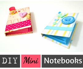 Make Your Own Mini Notebooks / POCKET - SIZED NOTEBOOKS WITH RECYCLED PAPER AND CARTON - Best Out of Waste