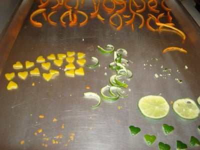 Cut the Peel Into Shapes