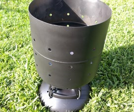 Homemade Firepit from Helium Tank (No welding!)