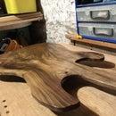 Guitar-shaped Walnut Serving Board