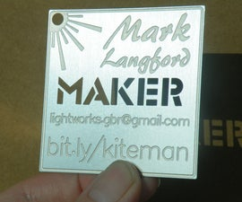Custom Laser Cut Metal Business Cards