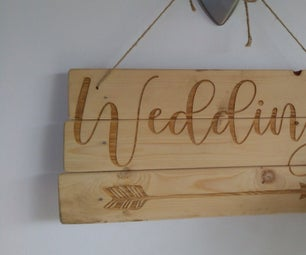 How to Make Wood Signs and Messages for a Wedding