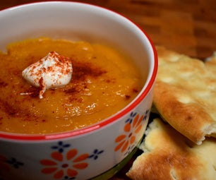 Cozy Pumpkin and Lentil Soup With Indian Flavours