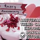 Anniversary Cake in Explosion Box