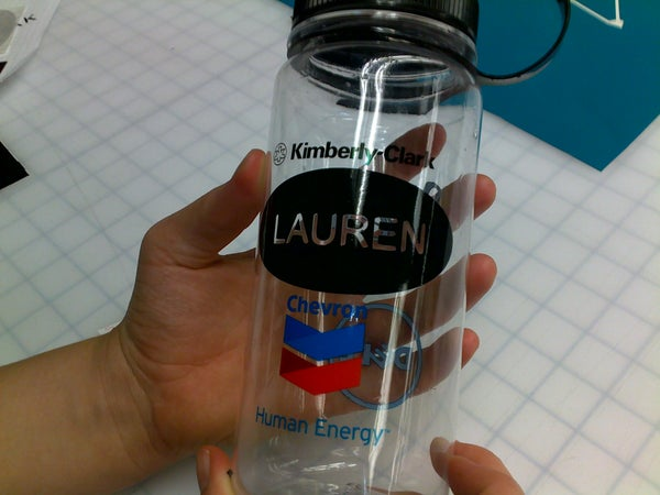 Water Bottle Stick-on Labels