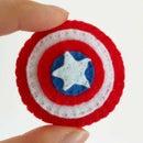 Felt Pin: Captain America Shield