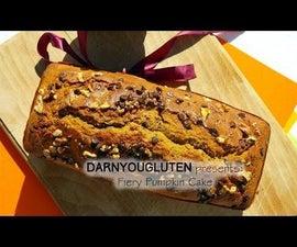 Fiery Pumpkin Bread-Cake (GF)