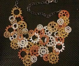 Sparkle Steampunk Statement Necklace