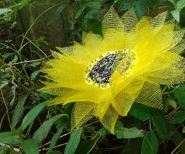 SUNFLOWER With Organdy Cloth