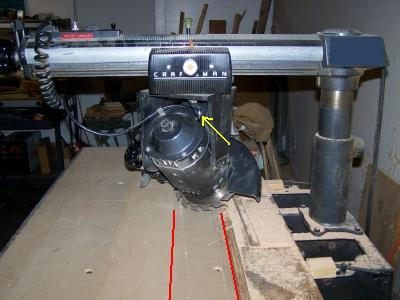 Picture of Basic Setup of the Saw