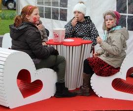 heart shaped kids seats