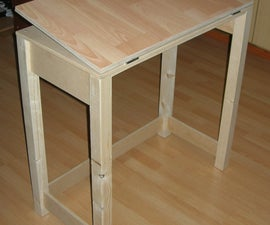 Adjustable Drafting Table With Basic Tools and Materials