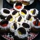 Superbowl team cupcakes!!