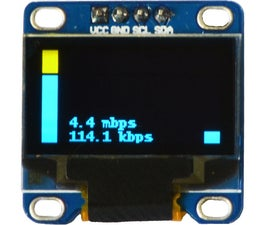Raspberry Pi OLED Internet Bandwidth Display