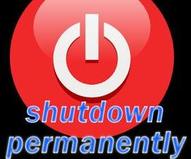 Permanently shutdown computer