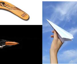 bullet & boomerang plane