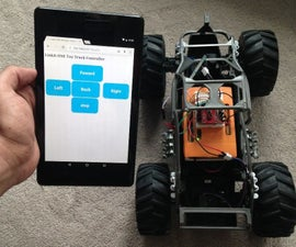 Remote Controlling a Toy Truck over WiFi - using LinkIt ONE