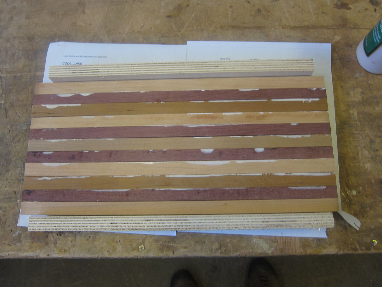 Picture of Arrange the Wood and Glue It Together