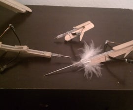 Powerful pocket crossbow! (No rubber bands or cloths pins!)