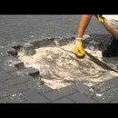 HOW TO FIX LOW SPOT IN DRIVEWAY+REPAIR PIPE |BLOCK PAVERS REMOVE+LAY COMPACT SAND BED JOINTS INSTALL